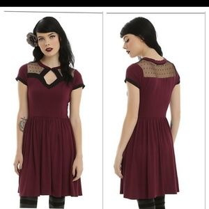 Hot Topic Dresses - Hot Topic dress fit and flare LIKE NEW Size large